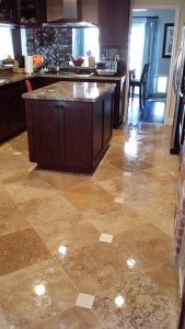 beautiful tile floor cleaning job