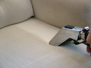 upholstery being cleaned